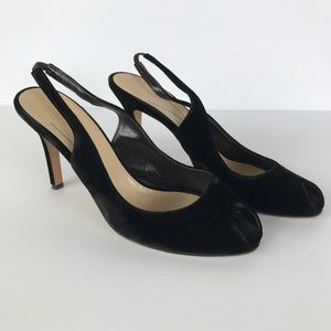 Kate Spade Vintage Velvet Slingback Heels Sz 10